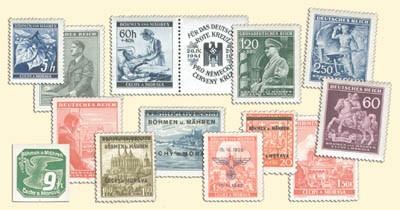 Böhmen u. Mähren Komplett ** 181 Marken