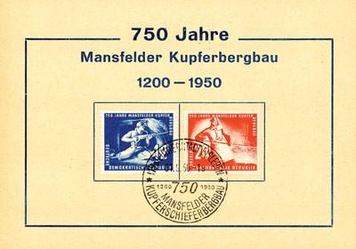 DDR FDC MiNr. 273/74 Kupferschieferbergbau