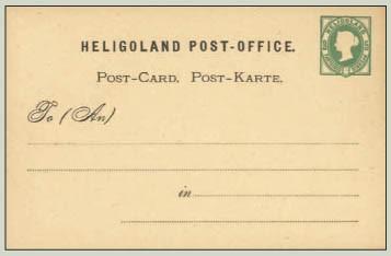 Helgoland Postkarte P1 *