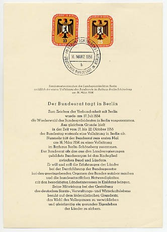 Berlin ETB-Nummer 03/ Mi. 136/37 o Amtliches ETB-WB / 1956