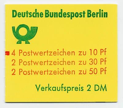 Berlin MH 10aII** mZ / Burgen u.Schlösser 197 mit Zählbalken