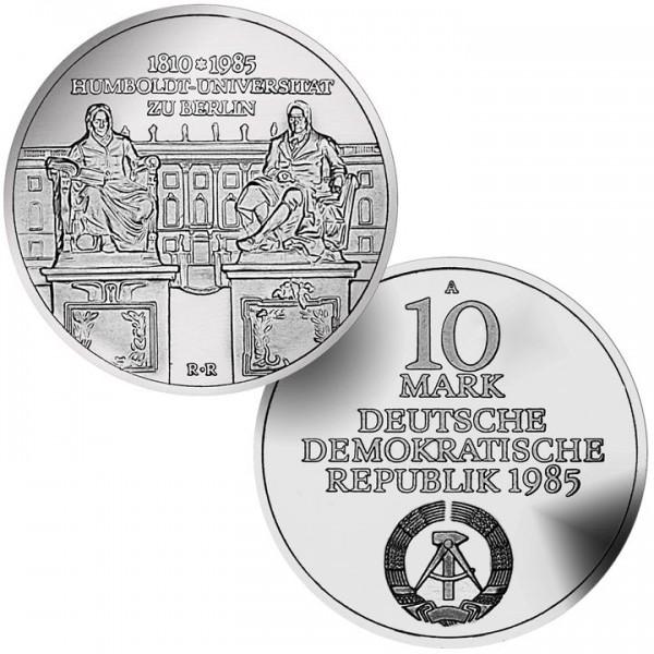 DDR Münze 1985, 10 M, st 175 Jahre Humboldt Universität