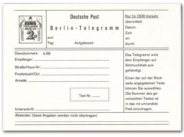 DDR Sondertelegramm