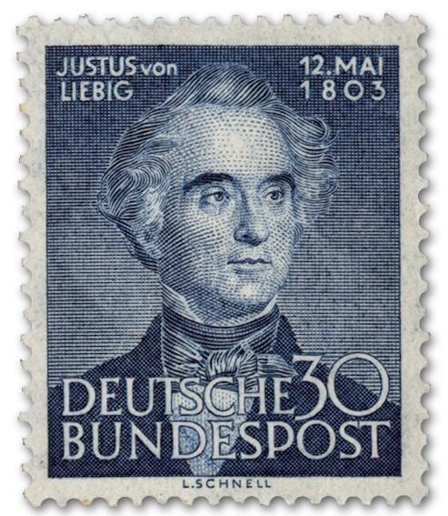 BRD MiNr. 166 ** 150. Geb. Justus von Liebig