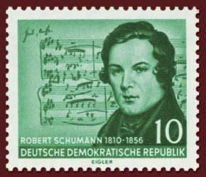 DDR MiNr. 541 XI ** gepr. 10 Pf Wert 100. Todestag von Robert Schumann (II)