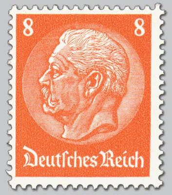 """Dt. Reich MiNr. 517 I ** Hindenburg-Medaillon mit PF """"offenes D"""""""
