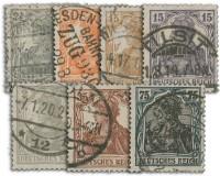 Dt. Reich MiNr. 98-104 o, 7 Werte Germania V-VII