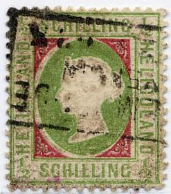 Helgoland MiNr. 6xe o 1/2 S h'olivgrün/karmin