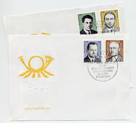 DDR FDC MiNr. 2589/92 Persönlichkeiten