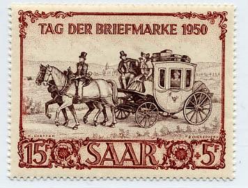 Saarland MiNr. 291 ** Tag der Briefmarke 1950