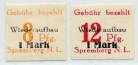 Dt. Lokalausgabe - Spremberg (n.a.) MiNr. 19-20 B ** (geschnitten)