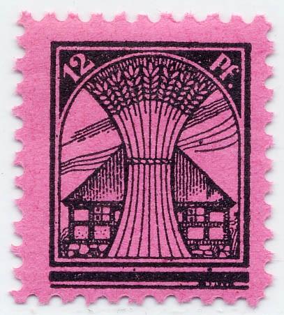 SBZ M./V. MiNr. 16 ** 12Pf schwarz a.lilarosa