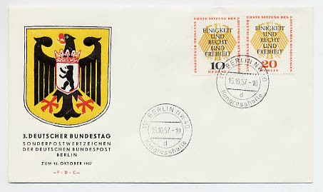 Berlin FDC Mi-Nr. 174/75
