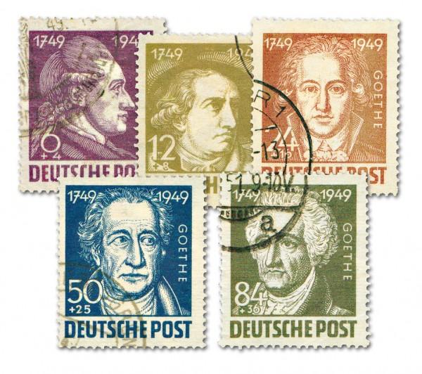 SBZ Allg.A. MiNr. 234/38 o 200.Geb.J.W.von Goethe