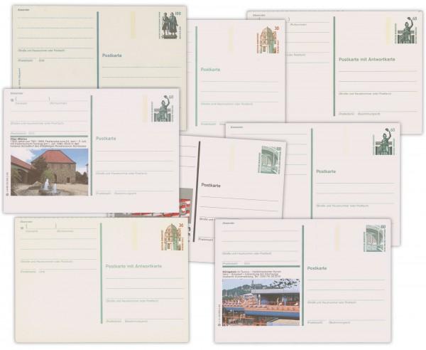 BRD Postkarten Sehenswürdigkeiten ** Komplette Serie P139-152, P154 + P157, 16 Karten