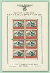 "Generalgouvernement MiNr. 125 ** Kleinbogen ""5 J. Generalgouvernement"""