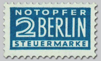 Bizone ZZ MiNr. 8 Y ** gepr. Notopfer Berlin