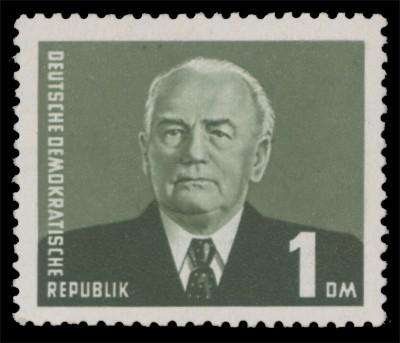 DDR MiNr. 622a ** gepr. 1 DM Freimarke Pieck