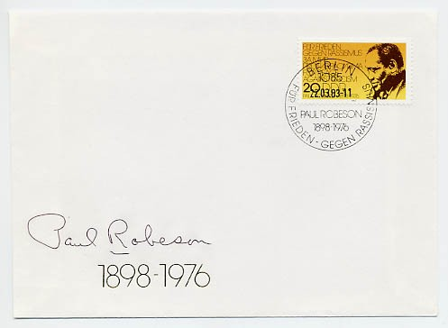 DDR FDC MiNr. 2781 Paul Robeson