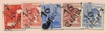 SBZ Allg.A. MiNr. 166-181 III ** (ohne 179) gepr.