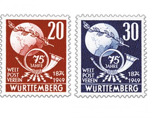 Franz.Zone Wü./Hz. MiNr. 51/52 ** 75 Jahre Weltpostverein