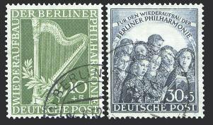 Berlin MiNr. 72/73 o Wiederaufbau der Berliner Philharmonie