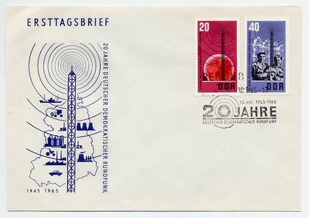 DDR FDC MiNr. 1111/12 Rundfunk