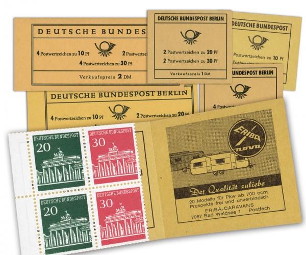 BRD/Berlin MH ** Brandenburger Tor 3 Ausgaben Berlin + 3 Ausgaben Bund