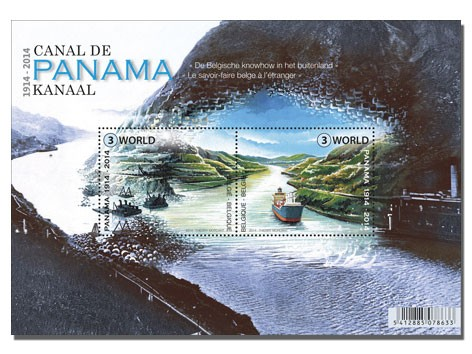 Belgien Block 100 Jahre Panamakanal **