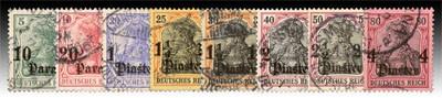 Dt. Post in d. Türkei MiNr. 36/43 KS o FM Reichspost mit Wasserzeichen