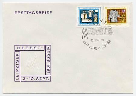 DDR FDC MiNr. 1306/07 LHM 1967