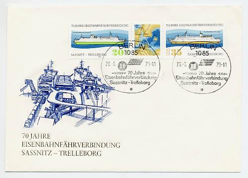 DDR FDC MiNr. 2429/30 Zdr. Fährverbind. Saßnitz-Trelleborg