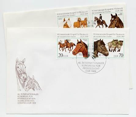DDR FDC MiNr. 3261/64 Int. Kongreß für Pferdezucht