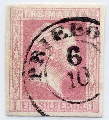 Preußen MiNr. 6a o 1 Sgr karminrot / geschnitt/ glatt