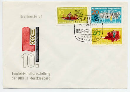 DDR FDC MiNr. 895/97 Landwirtschaftsausstellung