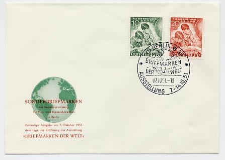 Berlin FDC Mi-Nr.80/81 Tag der Briefmarke 1951
