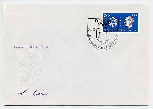 DDR FDC MiNr. 2825 200. Tdtg. Leonhard Euler