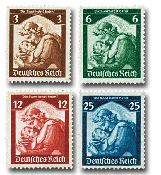 Dt. Reich MiNr. 565/68 ** Saarabstimmung 1935