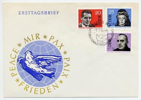 DDR FDC MiNr. 1049/51 Frieden