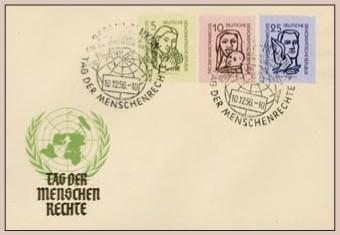 DDR FDC MiNr. 548/50 Menschenrechte