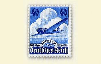 Dt. Reich MiNr. 603 ** 10 Jahre Lufthansa