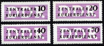 DDR Dienstmarken B MiNr. 6-9 ** Dienstmarken für den ZKD, ohne Aufdruck