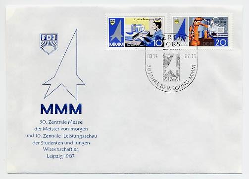 DDR FDC MiNr. 3132/33 30 Jahre MMM<br>30 Jahre MMM
