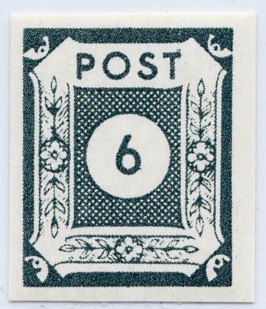 SBZ Ost-Sa. MiNr. 43Ab ** Ziffernserie 6 Pf schwarzblaugrün