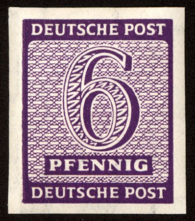 "SBZ West-Sa. MiNr. 117 Xb ** 6 Pf - Farbe ""b"" Freimarken ""Ziffern"""