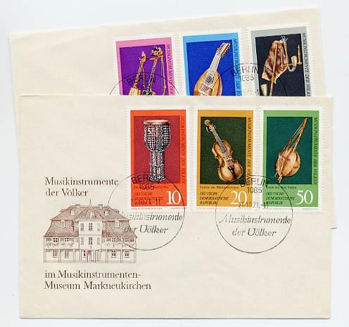 DDR FDC MiNr. 1708/13 Musikinstrumente