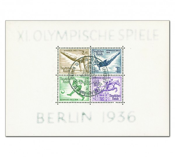 Dt. Reich Bl. 5 MiNr. 624/27 o Olympische Sommerspiele Berlin 1936