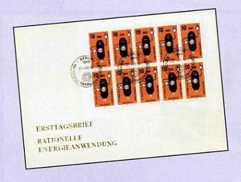 DDR FDC Klbg. MiNr. 2601 Spars. Energieanwendung