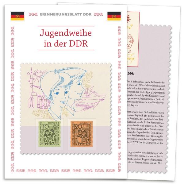 DDR Erinnerungsblatt EB03 - Jugendweihe