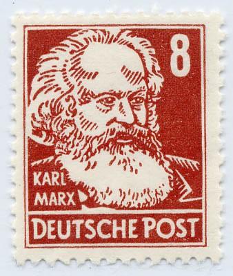 DDR MiNr. 329 vYI ** 8Pf Persönlichkeiten (Karl Marx)